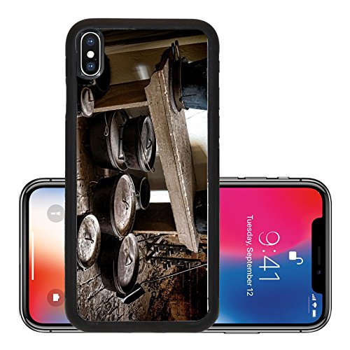 64 Floor Pan (Liili Premium Apple iPhone X Aluminum Backplate Bumper Snap Case IMAGE ID 32649477 Vintage collection of old heavy duty cast iron pots and pans on an antique floor with scatt)