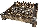 HPL Skeleton Slayer Fantasy Skull Chess Set w/ 17' Castle Fortress Board