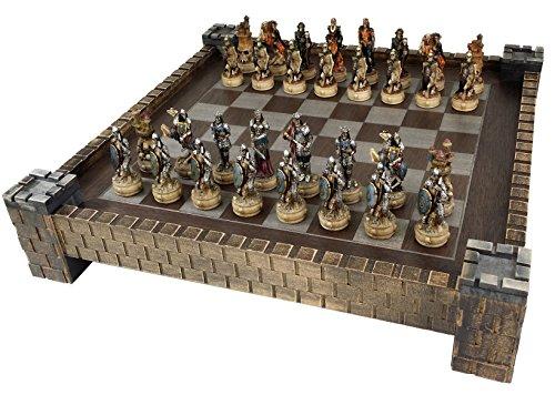 Skeleton Slayer Fantasy Skull Chess Set w/ 17