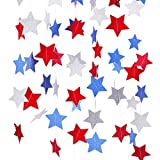 pink and red streamers - Red White Blue Star Streamers Patriotic 4th of July Decorations,4 Pack (blue star)