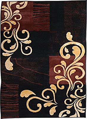 "Home Dynamix Premium Collection HD1879-502 Area Rug, 7'8"" by 10'7"", Ebony"