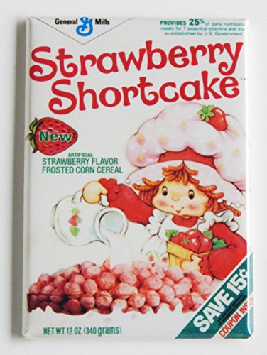 Strawberry Shortcake Cereal Box Fridge Magnet (2 x 3 inches)
