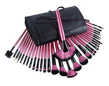 Pinsel Set Glamour Pink Brush Set Inkl Etui Kosmetikpinsel 32 Tlg