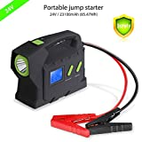 Guluman 23100mah Multi-function AUTO 12V / 24V 400ps Vehicle Car Jump Starter with Digital Display Mobile Power Bank Battery Charger Emergency Kit with LED Torch Flashlight