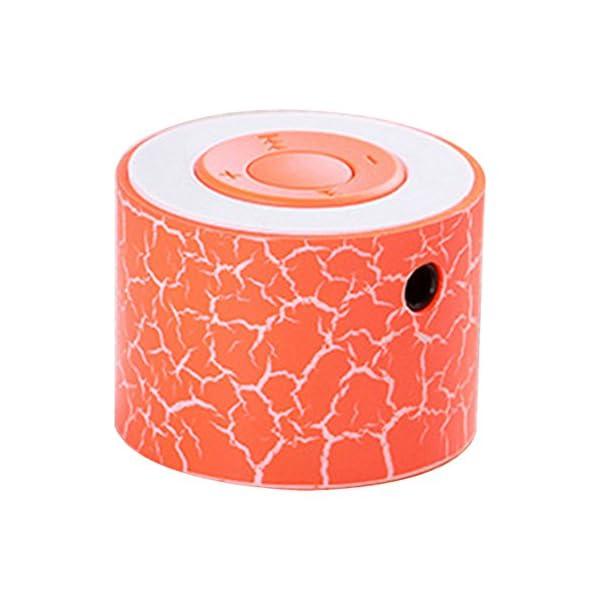 BEAYPINE Mini Haut-Parleur Portable TF Fente pour Carte USB Support Enceintes stéréo Portable Enceintes Lampe pour Halloween Party Study Yoga Office 1