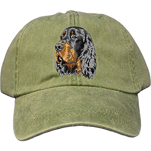Cherrybrook Dog Breed Embroidered Adams Cotton Twill Caps - Spruce - Gordon Setter