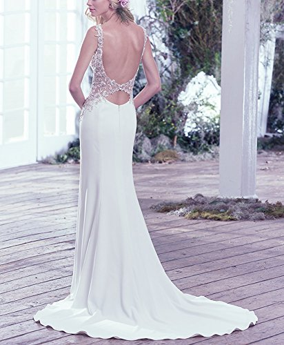 Women Evening Gown Neckline Wedding Dress Mermaid Boat Bridal Party Amore White 5wXBzUFqw