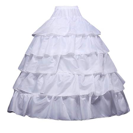 Falda para mujer con 4 aros y 5 capas de volantes, media falda ...