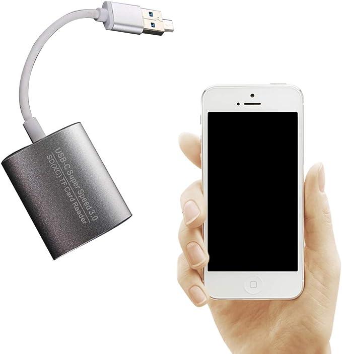 Hemore USB C Card Reader Dual-Slot SD/Micro SD USB 3.0 Mini Card ...