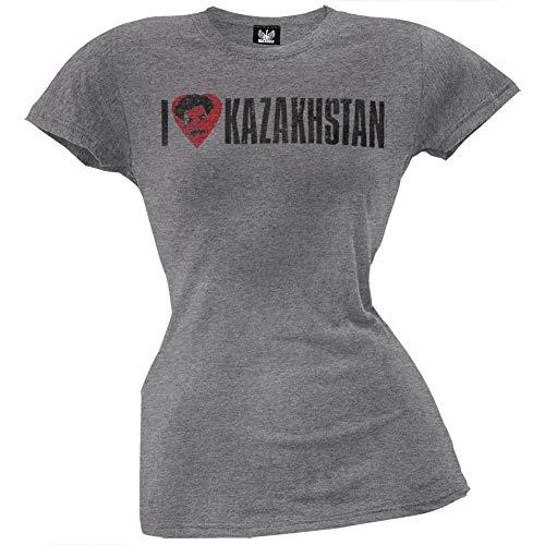 T-shirt Borat Funny (Borat - I Heart Kazakhstan Juniors T-Shirt - Large)