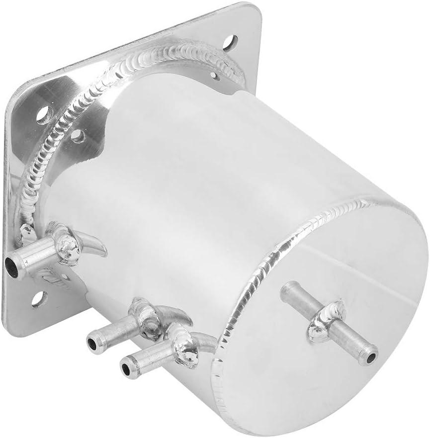 Terisass Fuel Swirl Pot Aluminium Alloy 1.5 LT Fuel Surge Tanks Box Vehicle Mirror Polished Fuel Swirl Pot for Race Drift Rally