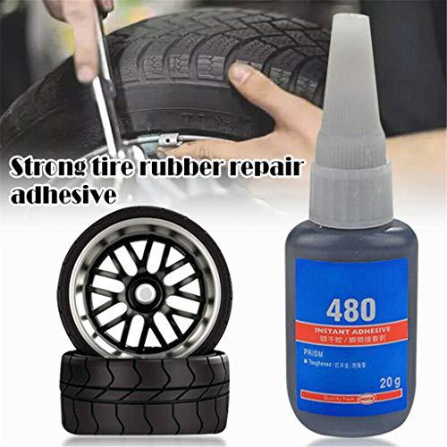 Kitt Mighty Tire Repair Glue Fast Repair and Curing Tyre Puncture Sealant Glue Bike Car Tire Repair Patch 20 ml (Black)