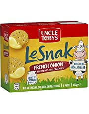 UNCLE TOBYS Le Snak French Onion Cheese Dip & Crackers 6 Pack, 132g