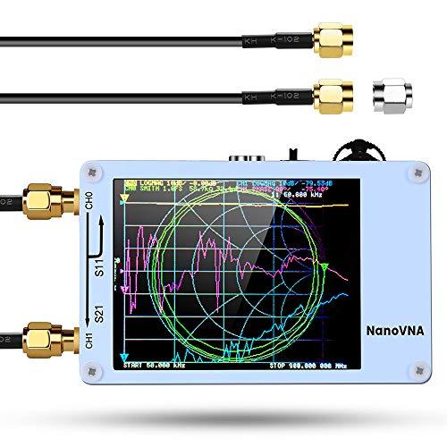 """Vector Network Analyzer, Seesii Mini NanoVNA, 50kHz-900MHz HF VHF UHF Antenna Analyzer USB, 2.8"""" TFT Screen with Battery, Calibration Kit"""