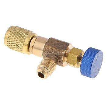 Sharplace Válvula de Llenado de Líquido de Aire Acondicionado Conditoner de Aire Conexión de Carga - Azul: Amazon.es: Hogar