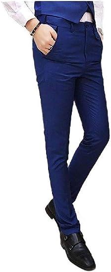 EnergyWD Mens Oversized Long Pants Fit Pure Color Juniors' Business Dress Pant