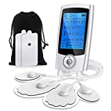 Haofy Electronic Pulse Massager, Dual Channel Tens Unit Rechargeable EMS Muscle Stimulator
