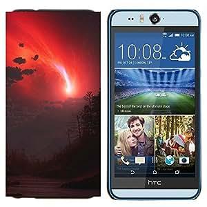 TECHCASE---Cubierta de la caja de protección para la piel dura ** HTC Desire Eye ( M910x ) ** --cielo rojo