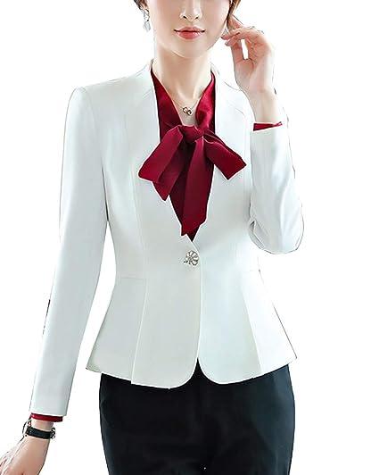 62d795dc4 Ensemble Femme Blazer Pantalon Slim Veste De Tailleur Élégant Ajusté ...