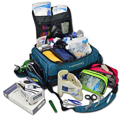 (Lightning X Jumbo Medic First Responder EMT Trauma Bag Stocked First Aid Trauma Fill Kit D)