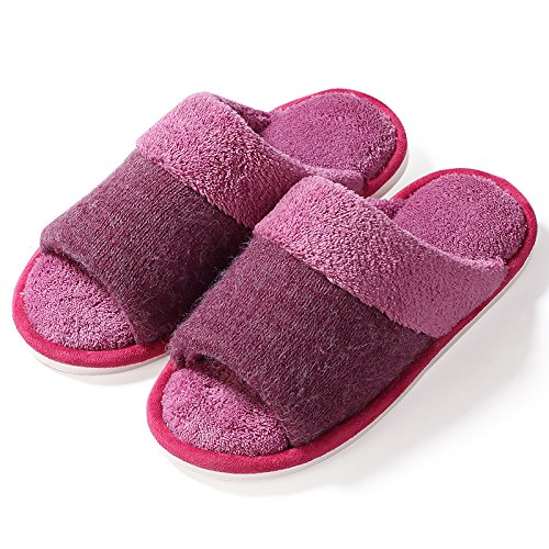 Fankou Accueil chaussons des couples prix plancher pendant le printemps et lautomne accueil Chaussons en coton non-slip hommes et faites glisser le mot ,41-42 (noir