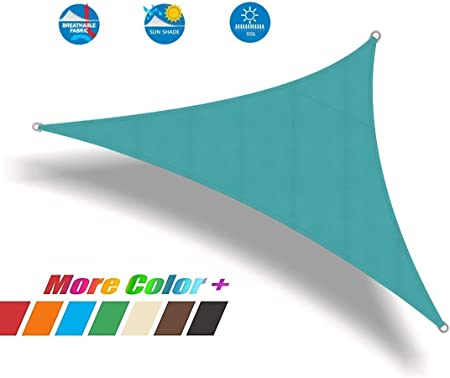 CAIJUN Velas De Sombra Triángulo A Prueba De Agua Pérgola Alto Sombreado Aislamiento Térmico Anti-UV Malla De Sombreo, 3 Colores, 13 Tallas (Color : B, Size : 3.5x3.5x3.5m): Amazon.es: Hogar