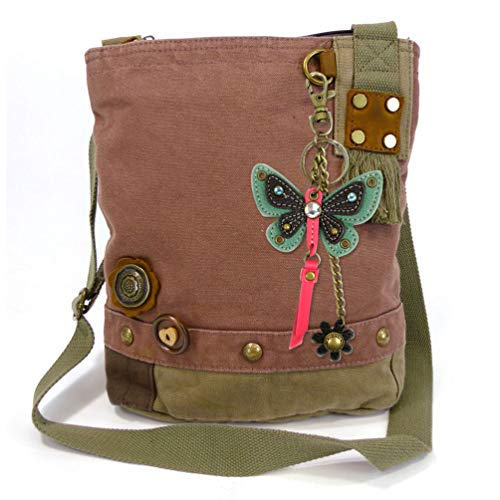 Cross Mauve 3D Charm Bag Butterfly Teal Butterfly Body with Patch Canvas Chala Bird Messenger 5xPqH0xv