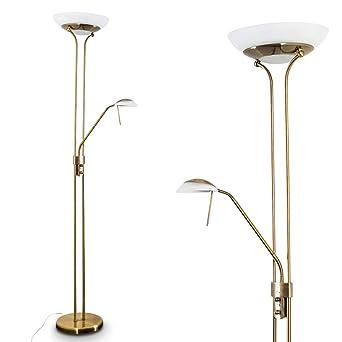 Led Stehlampe Biot Deckenfluter In Altmessing Mit 1600 Lumen