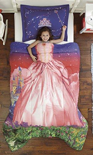 Dream Big Royal Princess Ultra Soft Microfiber Comforter Sham Set, Pink, Twin (The Big One Comforter Sets)