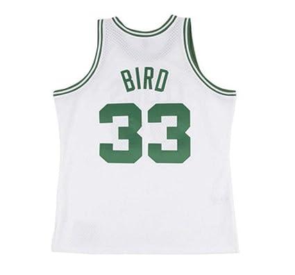 new style 995c9 d0a88 Amazon.com : Mitchell & Ness Larry Bird Boston Celtics White ...