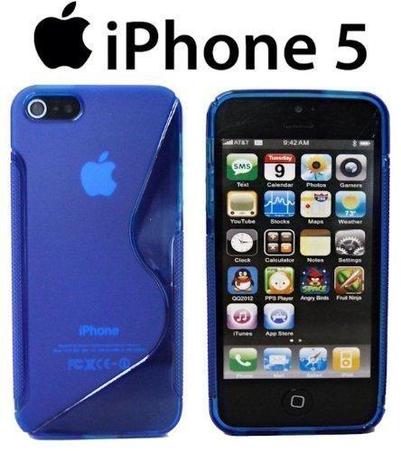 TPU SchutzHülle für Iphone 5 Silikon Hülle Silikonschutz Gummihülle in Blau