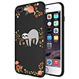 LitechTM Case for Apple iPhone 7 Plus/iPhone 8 Plus [Flexfit] Premium Scratch-Resistant Cute Creative Artistic Design (Sloth 2)