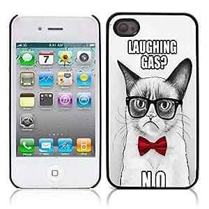 Grumpy Cat Hard Plastic and Aluminum Back Case for Apple iphone 4 4S