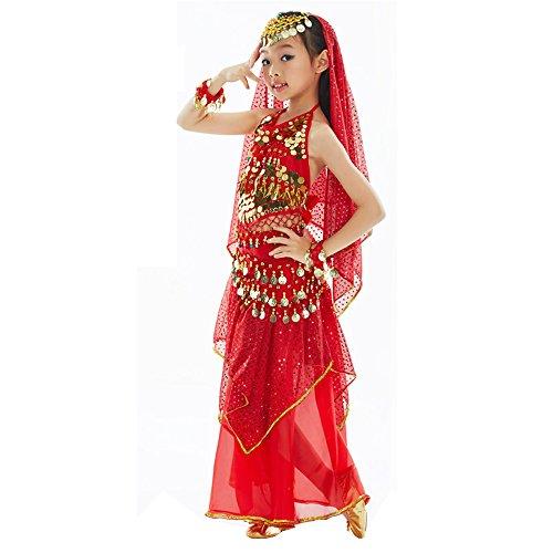 Xfentech Spectacle De Danse Du Ventre Exquis Des Filles Enfants Ensemble Pratique Costumes De Danse 5pcs