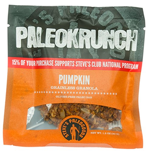 Steve's PaleoGoods Pumpkin PaleoKrunch Bar 1.5oz (case of 3)