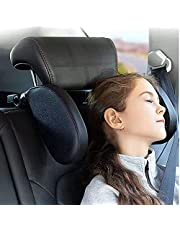 Car Headrest Pillow for Kids Adult, Upgrade Adjustable Road Pal Headrest Pillow for Head Neck Support, Pro U Shaped Car Sleeping Pillow for Car Headrest, Car Seat Headrest Cushion with Soft Memory Foam Black