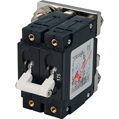 Blue Sea Systems C-Series White Toggle Double Pole 175A Circuit Breaker by Blue Sea Systems