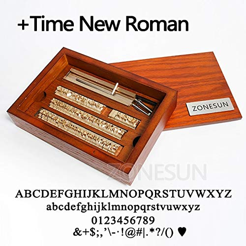 Xennos Custom Brass Leather Stamp DIY Metal Alphabet Letters Numbers Symbol Stamp for Stamping Craving Tool Brand Iron Mold - (Color: TNR with Wood Box) ()