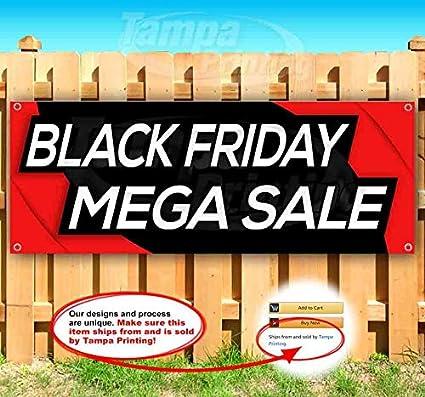 Black Friday MEGA - Cartel de vinilo resistente con ojales ...