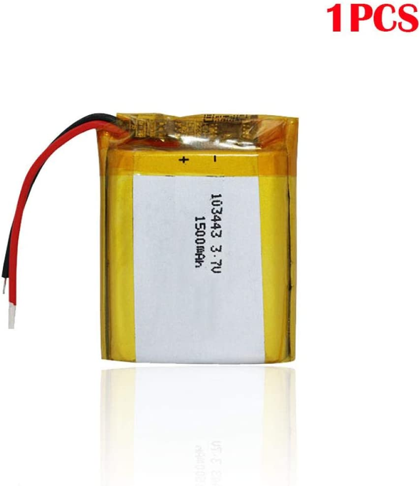 f/ür MP3 MP4 MP5 GPS Kamera Spielautomat LED Licht 1pcs N//C 103443 3,7 V 1500 mAH wiederaufladbarer Lithium Polymer Akku