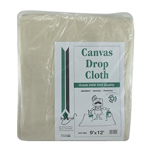 (Trimaco 56701 9' X 12' 6 Oz SuperTuff Canvas Drop Cloth)