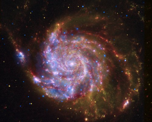 Hubble Space Telescope Poster Photo Spitzer Hubble Chandra Image of M101 NASA Posters Photos 16x20