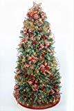 Cheap TreElf Damirscotta Complete Christmas Ornament Set for 7′ Tree. Sixty (60) Piece Designer Set, Includes Handmade Bows & So Much More! Tree & Lights not Included.
