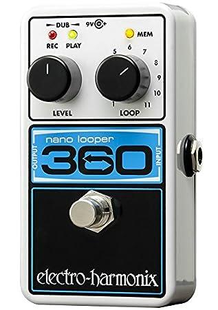 Electro Harmonix 665223 efecto de guitarra eléctrica con sintetizador Filtro Nano Looper 360: Amazon.es: Instrumentos musicales