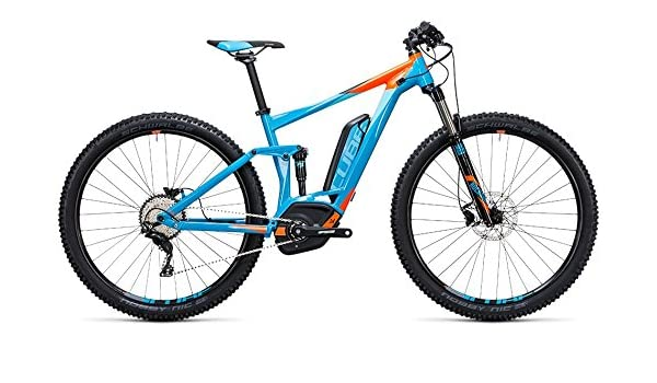 Cube estéreo Hybrid 120 HPA Pro 500 27.5r bicicleta eléctrica/fullsusp ension Mountain Ebike 2017, azul/naranja: Amazon.es: Deportes y aire libre