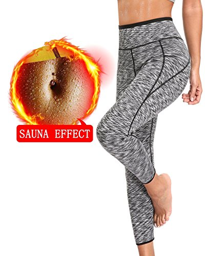 OUSPOTS Women Sweat Fitness Pants Slimming Yoga Workout Body Shaper Legging for Weight loss
