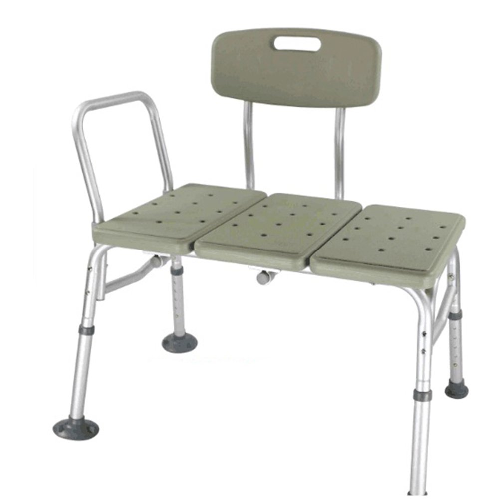 Amazon.com: 10 Height Adjustable Bathing Shower Chair & Aluminium Alloy  Elderly Bathtub Shower Bench Bath Chair with Arms and Backrest (Grey):  Health ...