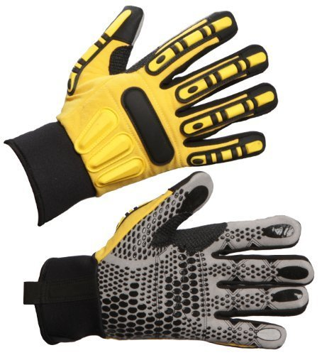 Impacto WGRIGGXL Dryrigger Oil and Water Resistant Glove, Yellow/Black by Impacto Protective Products Inc. by Impacto (Image #1)