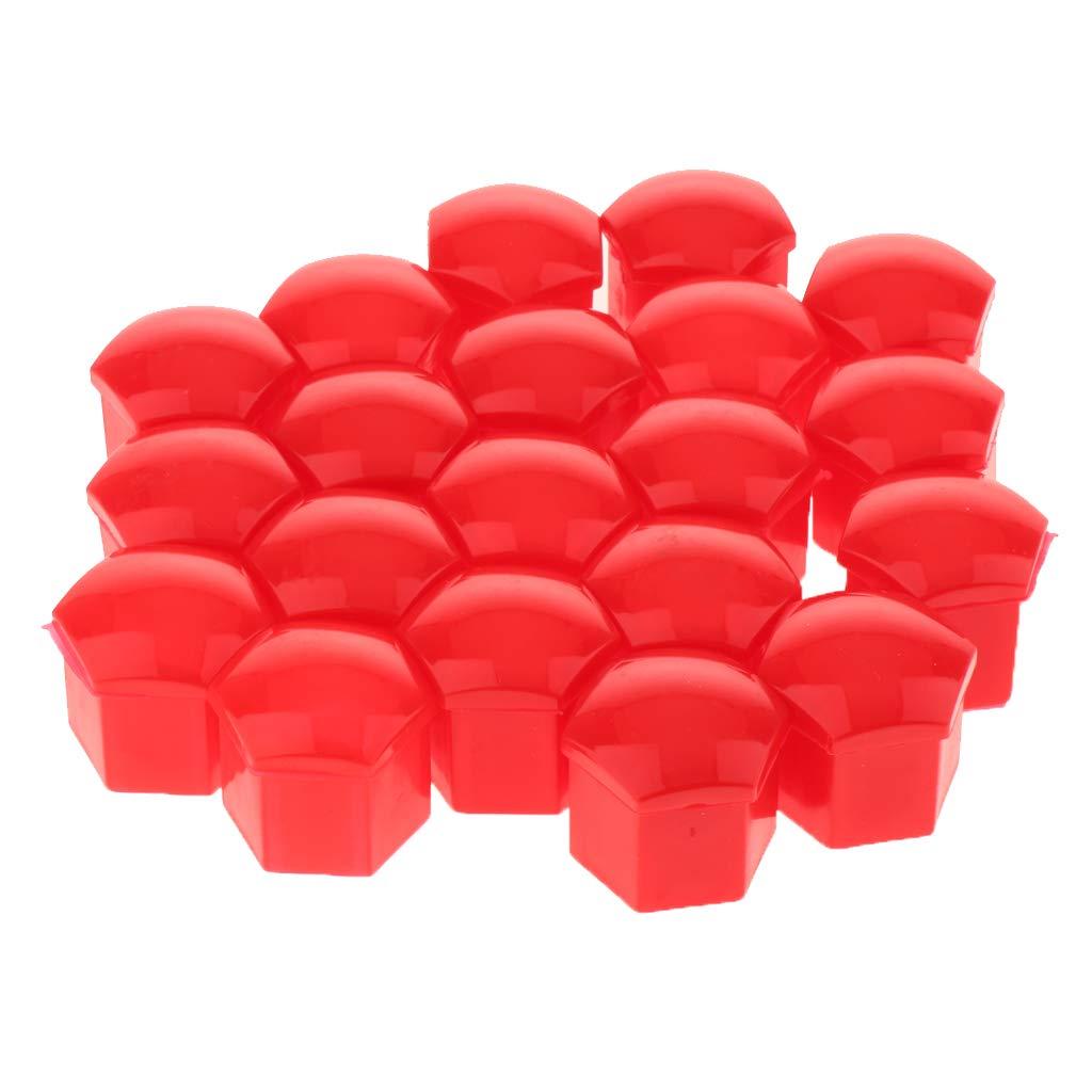 Red Gazechimp 20pcs Universal Car Wheel Nut Caps Auto Hub Screw Cover Lug Cover