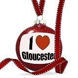 Christmas Decoration I Love Gloucester South West England, England Ornament